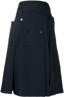 Golden Goose button trench skirt