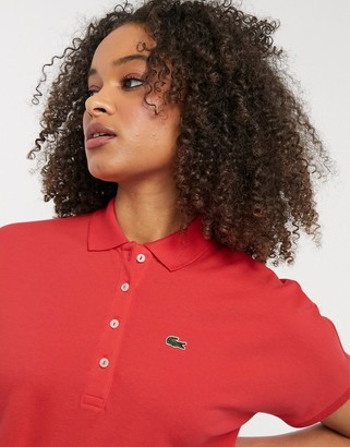 Lacoste classic polo shirt in red