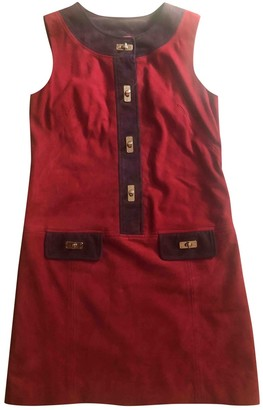 Milly Burgundy Suede Dress for Women
