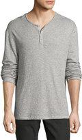 John Varvatos Lightweight Mini-Jacquard Henley Sweater