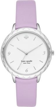 Kate Spade Women's Morningside Lilac Leather Strap Watch 34mm
