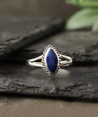 Lapis Kg Silver KG Silver Women's Rings silver & Sterling Silver Solitaire Marquise Ring