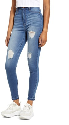 Tinsel Ripped High Waist Skinny Jeans