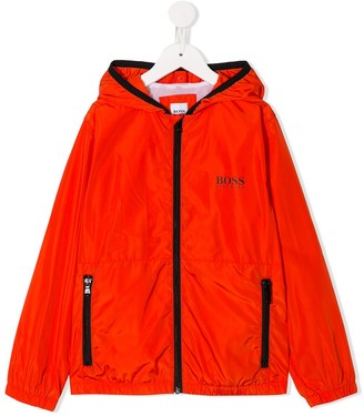 Boss Kids logo rain jacket