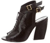 Pierre Hardy Snakeskin Lace-Up Booties w/ Tags