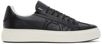 Salvatore Ferragamo Black Giancini Sneakers