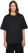 Facetasm Black Oversized Plain T-Shirt