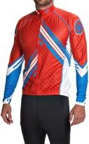 Canari Avalanche Cycling Jersey - UPF 30+, Full Zip, Long Sleeve (For Men)