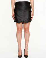 Le Château Leather-Like Snake Embossed Skirt