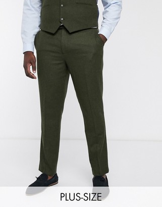 Harry Brown Plus wedding tweed heritage suit pants