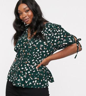 Brave Soul Plus gulia short sleeve blouse