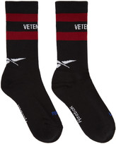 Vetements Black Reebok Edition Classic Socks