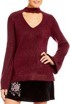 Takara Choker-Neck Bell Sleeve Sweater