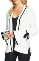 CeCe Women's Tie Bell Sleeve Cardigan