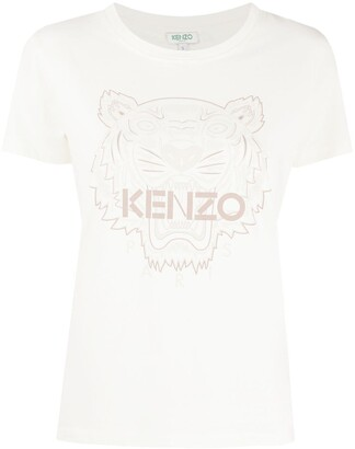 Kenzo tiger-motif T-shirt