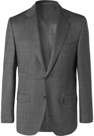 Canali Grey Nailhead Wool Suit Jacket