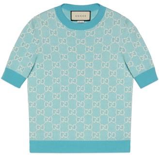 Gucci GG cotton wool piquet top