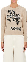 Marc Jacobs Women's Bead-Embellished Distressed Sweater-TAN