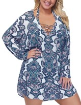Thumbnail for your product : Raisins Curve Trendy Plus Size Golden Hour Alba Hoodie Cover-Up Women's Swimsuit
