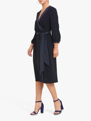 Helen McAlinden Una Wrap Dress, Navy