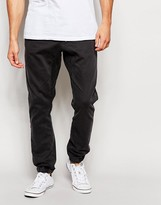 Quiksilver Trouser In Slim Fit Stretch With Cuffed Bottom - Grey