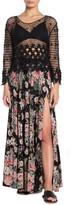 Angie Floral Print Side Slit Maxi Skirt