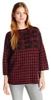 French Connection Women's Dogstooth Check Knits Sweater