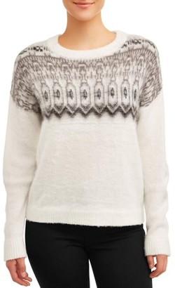 Concepts Women's Crew Neck Fair Isle Sweater