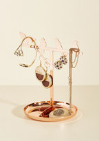 Kikkerland Flaunt, Perch, Repeat Jewelry Stand in Copper