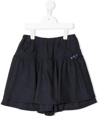 Familiar Bow-Detail Shorts
