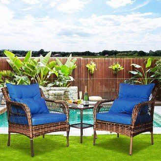 Blue Patio Cushions Shop The World S Largest Collection Of Fashion Shopstyle