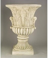 The Well Appointed House Garden Urn with Leaf Design in Antique Stone