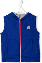 Moncler hooded vest - kids - Cotton/Polyamide - 14 yrs