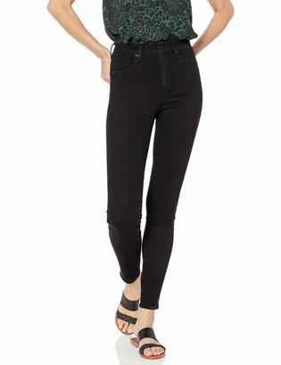 Volcom Women's Liberator High Rise Legging Fit Denim Jean - Black - 25W x 30L