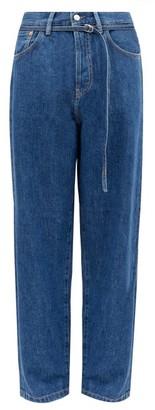 Acne Studios 1991 Toj Belted High-rise Straight-leg Jeans - Womens - Blue