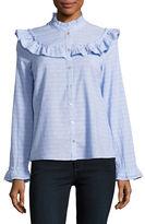 Vero Moda Ruffled Button-Front Shirt