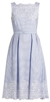 Erdem Mara broderie-anglaise striped-cotton dress