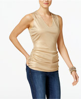 INC International Concepts Metallic Lattice-Back Tank Top, Only at Macy's
