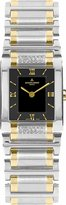 Jacques Lemans Women's Black Dial Stainless Steel & Gold Plated 10 Mic Stainless Steel