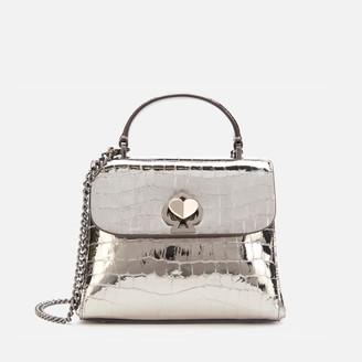 Kate Spade Women's Romy Metallic Croc Mini Top Handle Bag - Gunmetal