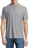 Perry Ellis Solid Zip-Up Polo