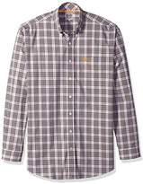 Cinch Men's Classic Fit Long Sleeve Button One Open Pocket Plaid Shirt
