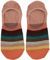 Paul Smith Orange Multistripe No Show Socks