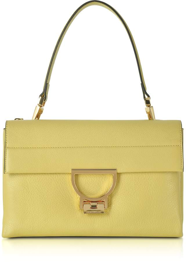 Coccinelle Banane Pebbled Leather Arlettis Shoulder Bag