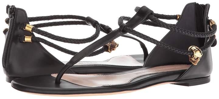 Alexander McQueen Strappy Leather Sandals