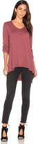 Wilt Mixed Panel Tunic Top