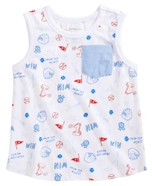 First Impressions Toddler Boys Baseball Graphic Cotton Tank Top, Created for Macy's