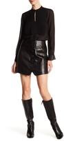 Rachel Zoe Ciara Silk Lined Genuine Leather Skirt