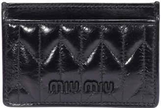 Miu Miu Leather Logo Cards Holder