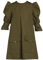 Alexander McQueen Puff Sleeve Cargo Dress